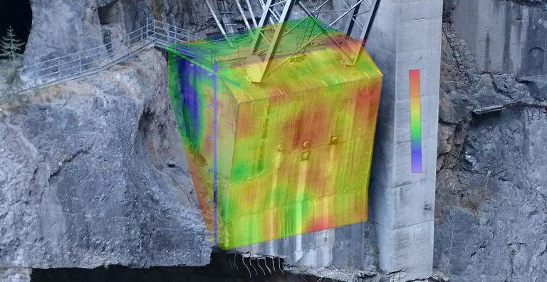 Indagini Geofisiche Sperimentali in parete e rilievi geomeccanici, metodi non convenzionali - vajont