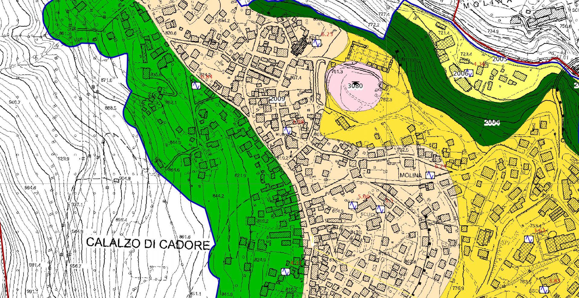 IGS Srl: MS1, MS2, analisi CLE e geofisiche, land planning Cadore Belluno