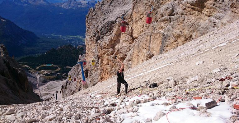 IGS ha svolto le indagini geofisiche, i rilievi geomeccanici e le modellazioni per la Funivia Valgrande-Staunies, Monte Cristallo - Cortina d'Ampezzo (BL)
